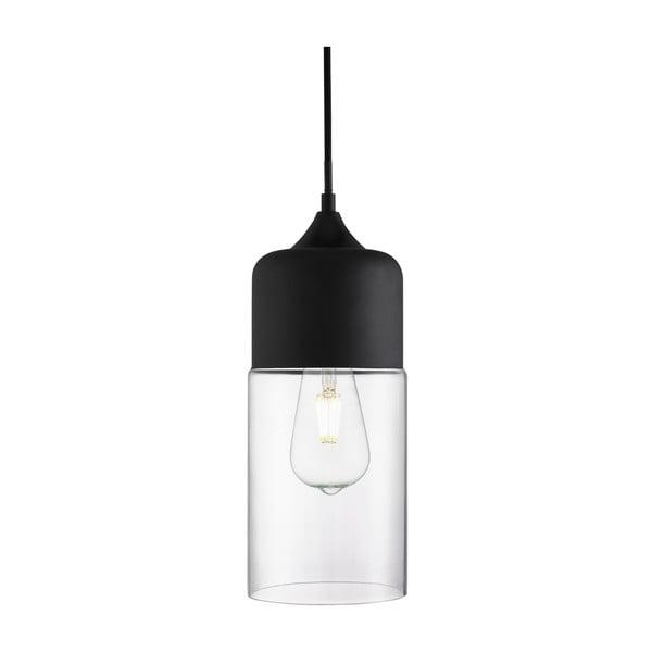Lampa wisząca Searchlight Olsson, czarna/przezroczysta