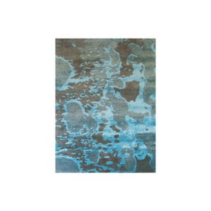 Dywan ręcznie tkany Disco, 153x244 cm, niebieski