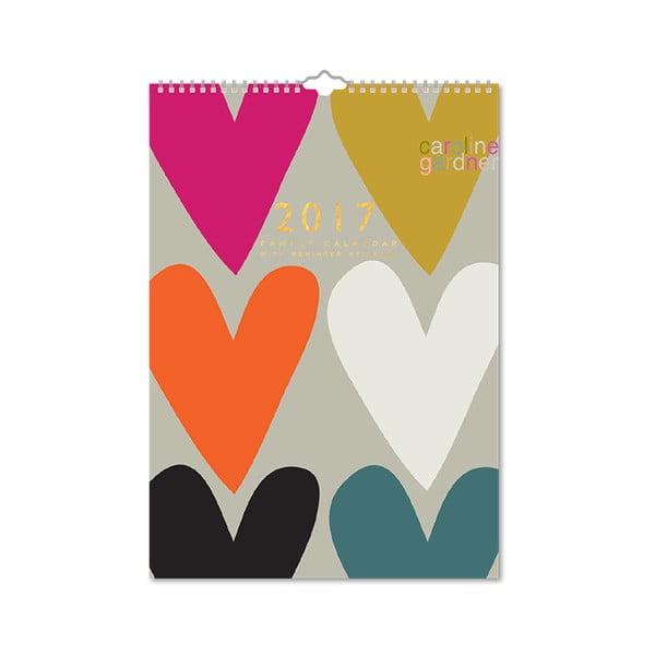 Kalendarz rodzinny Portico Designs Hearts