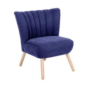 Niebieski fotel Max Winzer Alessandro Velor
