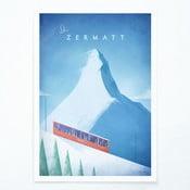 Plakat Travelposter Zermatt, A2