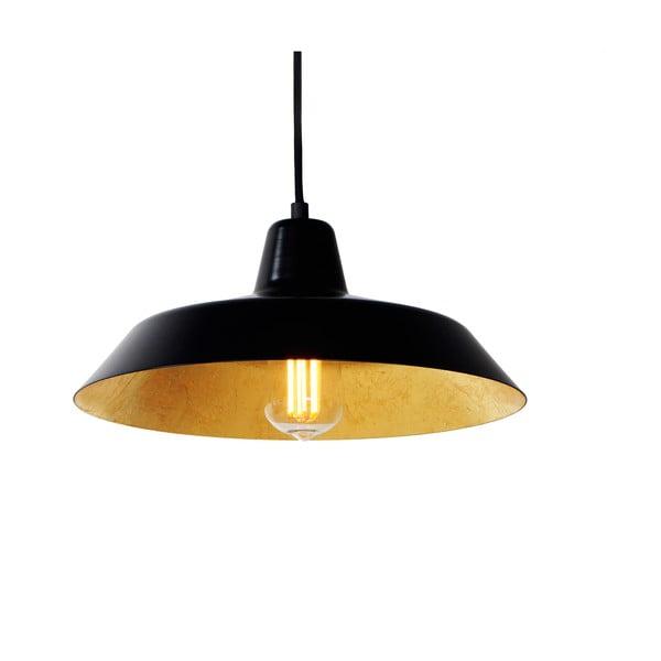 Lampa wisząca Cinco, złoto-czarna