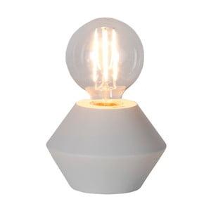 Biała drewniana lampa stołowa Best Season Grace