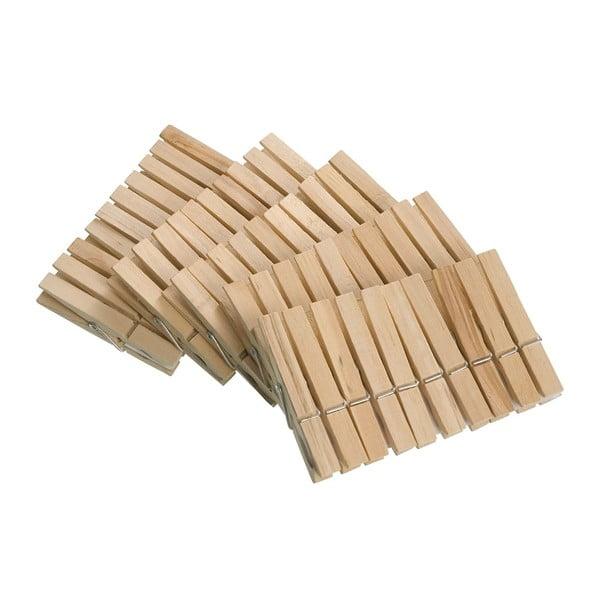 Zestaw 50 drewnianych spinaczy Wenko Pegs