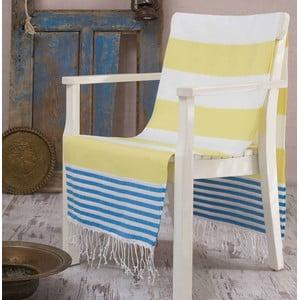 Żółty ręcznik Hammam Antalya, 100x180 cm