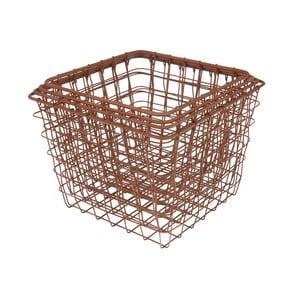 Zestaw 4 koszyków Present Time Wire Copper Tones
