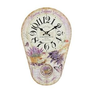 Zegar z wahadłem Lavender, 30x45 cm