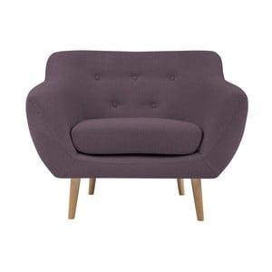 Fioletowy fotel z jasnymi nogami Mazzini Sofas Sicile