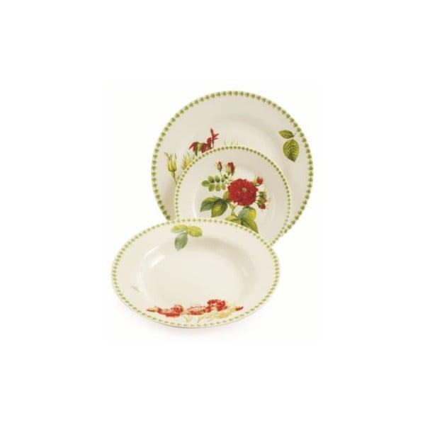 Komplet porcelanowych talerzy Botanique, 18 szt.