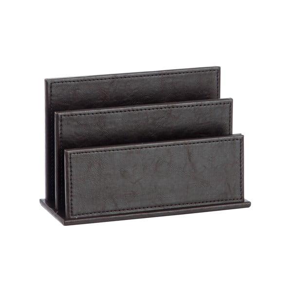 Stojak na magazyny ze sztucznej skóry Leather