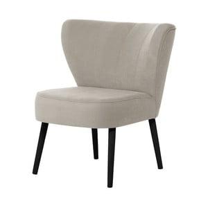 Kremowy fotel z czarnymi nogami My Pop Design Hamilton