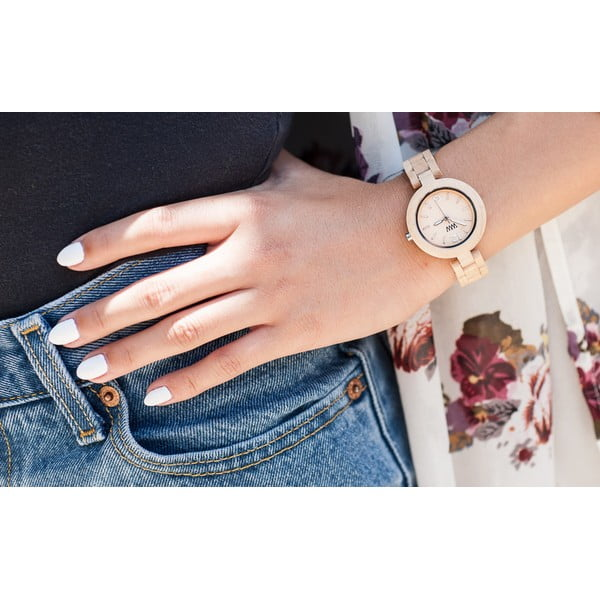 Drewniany zegarek Mimosa Beige