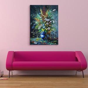 """Obraz na płótnie """"Kwiaty polne w ciemności"""", 50x70 cm"""