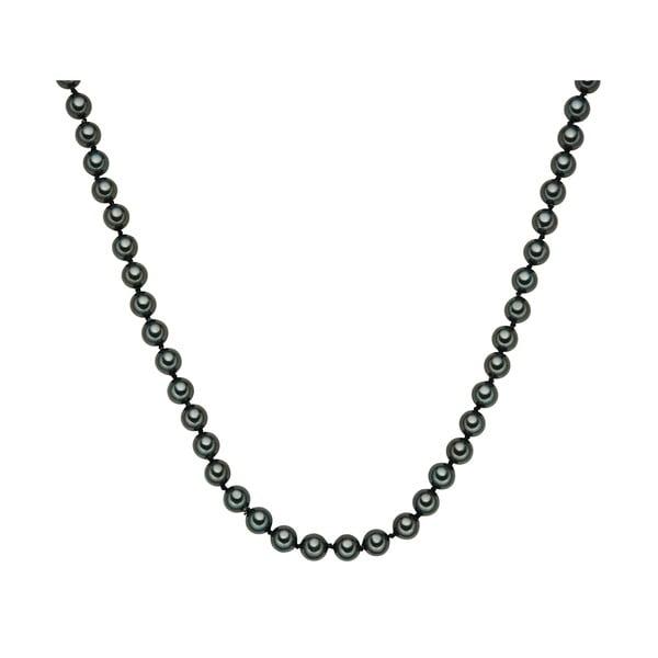 Perłowy naszyjnik Muschel, zielone perły 8 mm, długość 40 cm