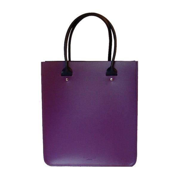 Skórzana torebka Two Tone Purple/Navy