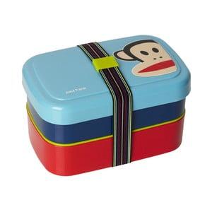 Dwupoziomowe pudełko śniadaniowe, niebieskie