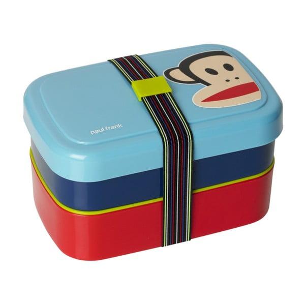 Niebieskie dwupoziomowe pudełko śniadaniowe Paul Frank