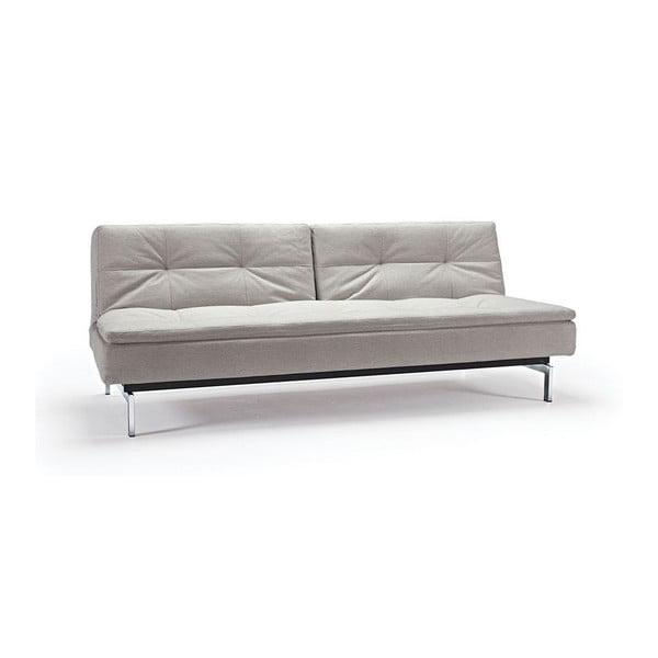Kremowa rozkładana sofa z metalową konstrukcją Innovation Dublexo Mixed Dance Natural, 92x210 cm