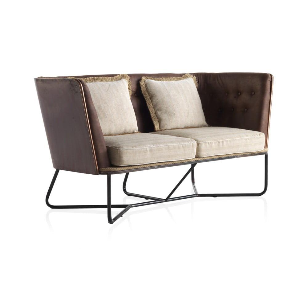 Sofa 2-osobowa z metalową konstrukcją Geese