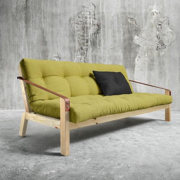 Sofa rozkładana Karup Poetry Natural/Avocado Green/Dark Grey