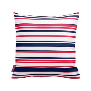 Poduszka Red and Navy Stripes, 43x43 cm