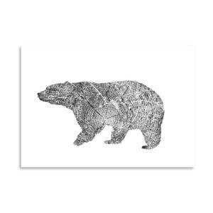 Plakat Americanflat Bear, 30x42 cm