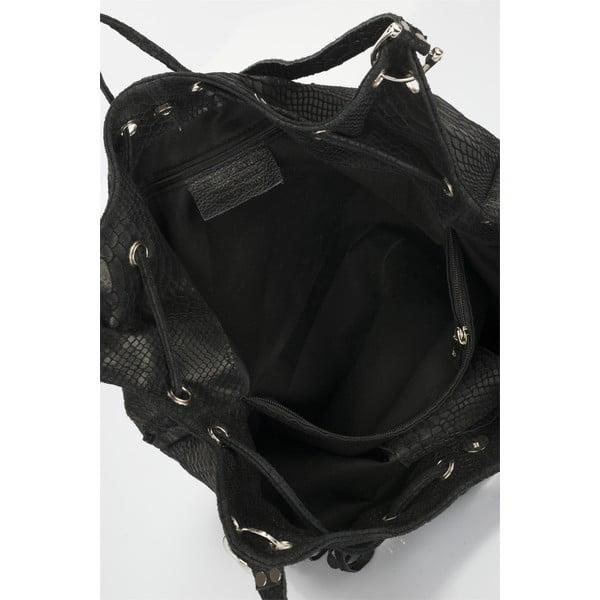 Czarna torebka skórzana Lisa Minardi Divisa