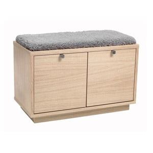 Matowa lakierowane ławka dębowa z 2 szufladami Folke Thor