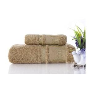 Zestaw 2 ręczników Antik Gold Mustard Color, 70x140 i 50x90 cm