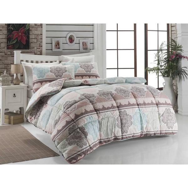 Narzuta pikowana na łóżko jednoosobowe Andalucia Tyrkys, 155x215 cm