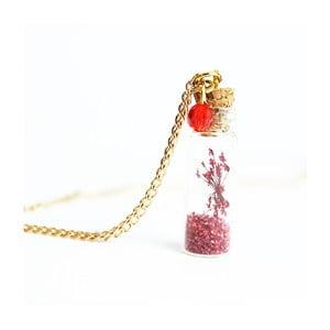 Naszyjnik Wish Bottle and Gold Flowers