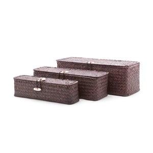 Zestaw 3 pudełek Seagrass Brown