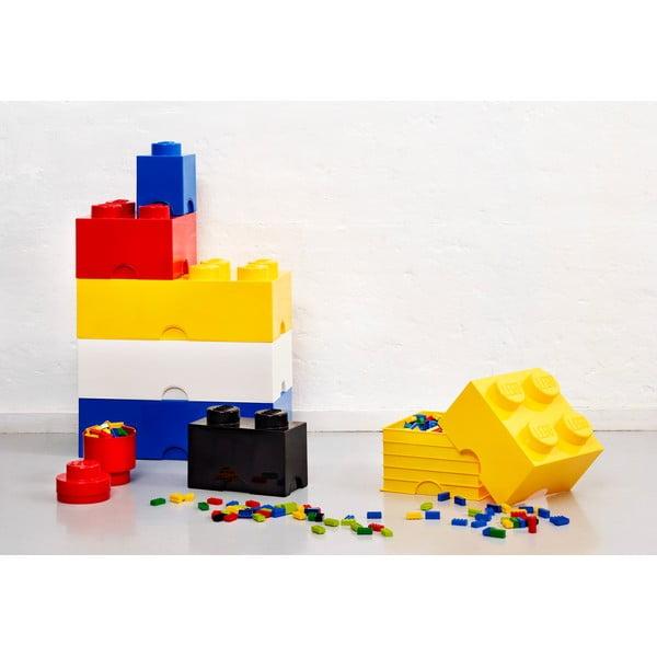 Żółty kwadratowy pojemnik LEGO®