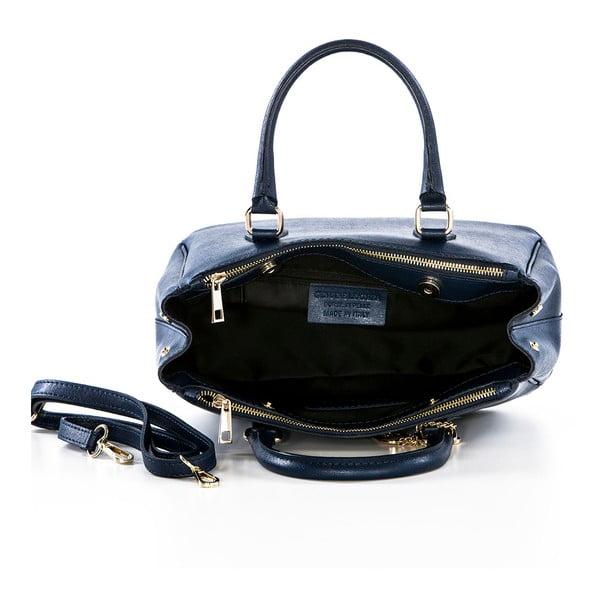 Skórzana torebka Saffi Navy