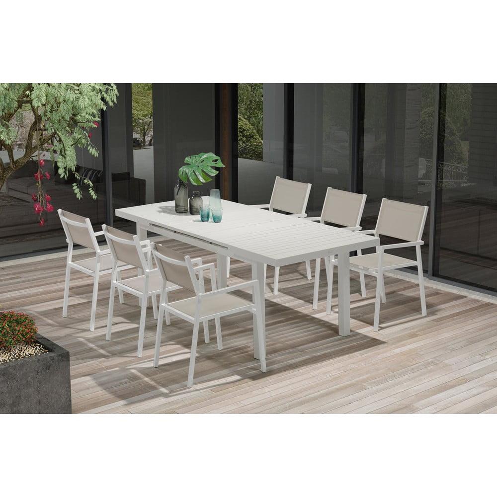 Zestaw 4 krzeseł ogrodowych i rozkładanego stołu Ezeis Carioca