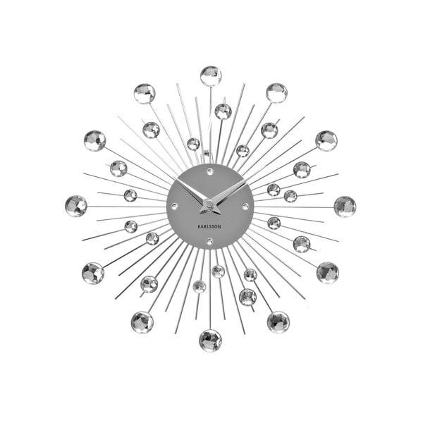 Zegar w srebrnej barwie Karlsson Sunburst
