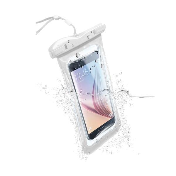 Etui na telefon, wodoszczelne, uniwersalne Cellularline VOYAGER, białe