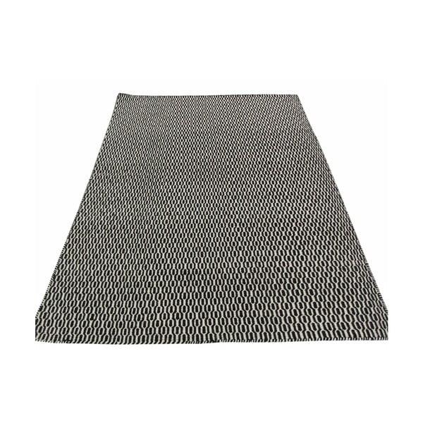 Ręcznie tkany dywan Kilim Tsts Black, 100x150 cm