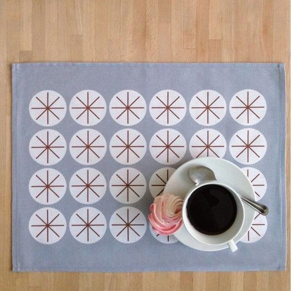 Zestaw 4 mat stołowych Stars Gray, 45x35 cm