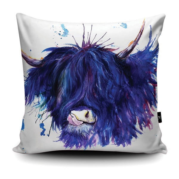 Poduszka Wraptious Splatter Highland Cow