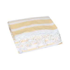 Żółty ręcznik hammam Aqua Yellow, 90x190cm