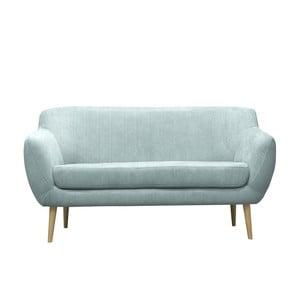 Akwamarynowa sofa trzyosobowa Mazzini Sofas Sardaigne