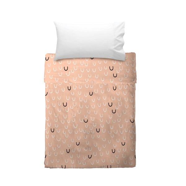 Prześcieradło i poszewka na poduszkę Smile, 100x135 cm