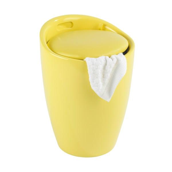 Żółty kosz na pranie itaboret wjednym Wenko Candy
