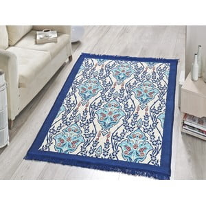 Dywan Blue Flora, 60x90 cm