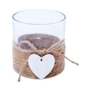 Wazon szklany Bolzonella z serduszkiem