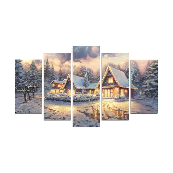 Obraz pięcioczęściowy Christmas no. 1, 110x60 cm