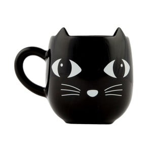 Czarny kubek Sass & Belle Cat, 300 ml