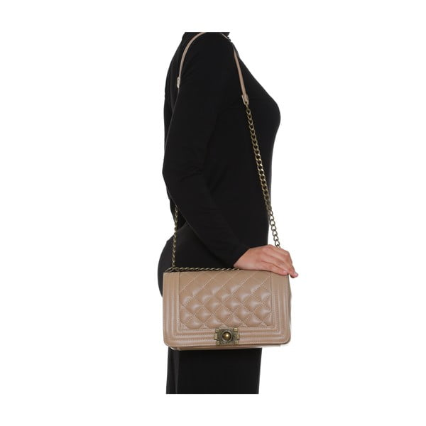 Skórzana torebka Anna Luchini 2064 Fango