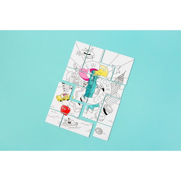 Puzzle do kolorowania OMY New York